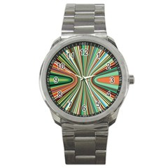 Colorful Spheric Background Sport Metal Watch by Simbadda