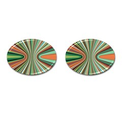 Colorful Spheric Background Cufflinks (oval) by Simbadda