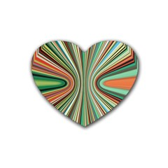 Colorful Spheric Background Rubber Coaster (heart)