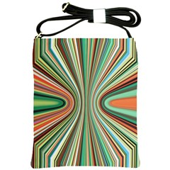 Colorful Spheric Background Shoulder Sling Bags by Simbadda