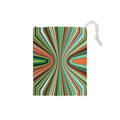 Colorful Spheric Background Drawstring Pouches (small)  by Simbadda