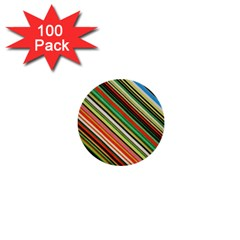 Colorful Stripe Background 1  Mini Buttons (100 Pack)