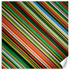 Colorful Stripe Background Canvas 16  X 16   by Simbadda
