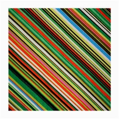 Colorful Stripe Background Medium Glasses Cloth by Simbadda