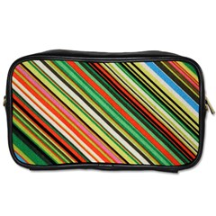 Colorful Stripe Background Toiletries Bags 2 Side