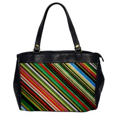 Colorful Stripe Background Office Handbags by Simbadda