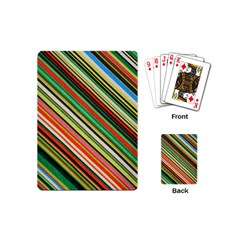 Colorful Stripe Background Playing Cards (mini)  by Simbadda