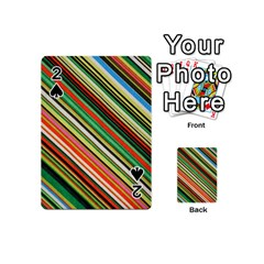 Colorful Stripe Background Playing Cards 54 (mini)  by Simbadda