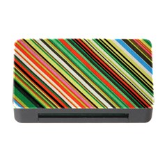 Colorful Stripe Background Memory Card Reader With Cf by Simbadda
