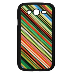 Colorful Stripe Background Samsung Galaxy Grand Duos I9082 Case (black)
