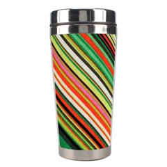 Colorful Stripe Background Stainless Steel Travel Tumblers by Simbadda
