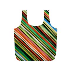 Colorful Stripe Background Full Print Recycle Bags (s)