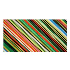Colorful Stripe Background Satin Shawl by Simbadda