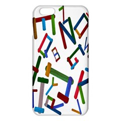 Colorful Letters From Wood Ice Cream Stick Isolated On White Background Iphone 6 Plus/6s Plus Tpu Case by Simbadda