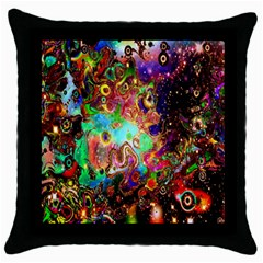 Alien World Digital Computer Graphic Throw Pillow Case (black) by Simbadda