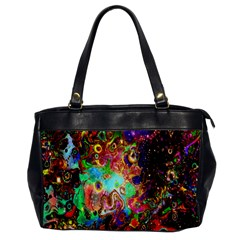 Alien World Digital Computer Graphic Office Handbags by Simbadda