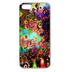 Alien World Digital Computer Graphic Apple Seamless Iphone 5 Case (clear)