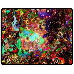 Alien World Digital Computer Graphic Double Sided Fleece Blanket (medium)