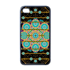 Gold Silver And Bloom Mandala Apple Iphone 4 Case (black) by pepitasart