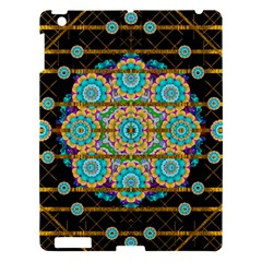 Gold Silver And Bloom Mandala Apple Ipad 3/4 Hardshell Case by pepitasart