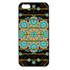 Gold Silver And Bloom Mandala Apple Iphone 5 Seamless Case (black) by pepitasart