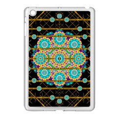 Gold Silver And Bloom Mandala Apple Ipad Mini Case (white) by pepitasart