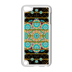 Gold Silver And Bloom Mandala Apple Ipod Touch 5 Case (white) by pepitasart