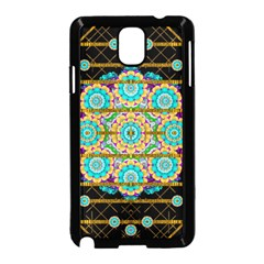 Gold Silver And Bloom Mandala Samsung Galaxy Note 3 Neo Hardshell Case (black) by pepitasart