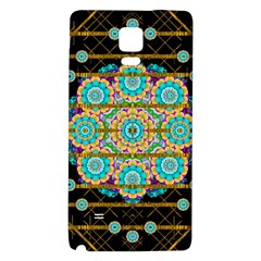 Gold Silver And Bloom Mandala Galaxy Note 4 Back Case by pepitasart