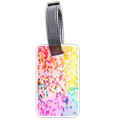 Colorful Colors Digital Pattern Luggage Tags (one Side)
