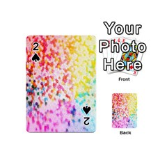 Colorful Colors Digital Pattern Playing Cards 54 (mini)  by Simbadda