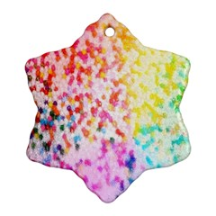 Colorful Colors Digital Pattern Snowflake Ornament (two Sides)