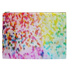 Colorful Colors Digital Pattern Cosmetic Bag (xxl)  by Simbadda