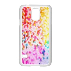 Colorful Colors Digital Pattern Samsung Galaxy S5 Case (white)