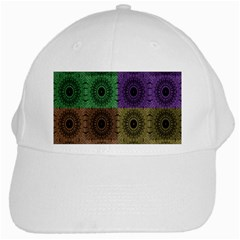 Creative Digital Pattern Computer Graphic White Cap by Simbadda