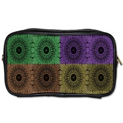 Creative Digital Pattern Computer Graphic Toiletries Bags by Simbadda