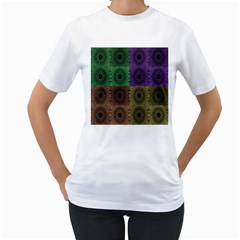 Creative Digital Pattern Computer Graphic Women s T Shirt (white)