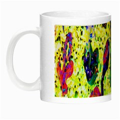 Grunge Abstract Yellow Hand Grunge Effect Layered Images Of Texture And Pattern In Yellow White Black Night Luminous Mugs by Simbadda