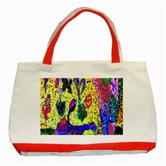 Grunge Abstract Yellow Hand Grunge Effect Layered Images Of Texture And Pattern In Yellow White Black Classic Tote Bag (red) by Simbadda