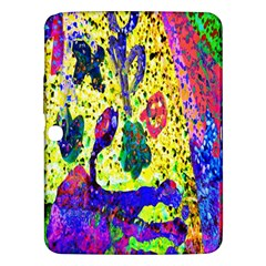Grunge Abstract Yellow Hand Grunge Effect Layered Images Of Texture And Pattern In Yellow White Black Samsung Galaxy Tab 3 (10 1 ) P5200 Hardshell Case