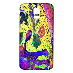 Grunge Abstract Yellow Hand Grunge Effect Layered Images Of Texture And Pattern In Yellow White Black Samsung Galaxy S5 Back Case (white) by Simbadda