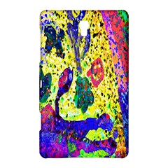 Grunge Abstract Yellow Hand Grunge Effect Layered Images Of Texture And Pattern In Yellow White Black Samsung Galaxy Tab S (8 4 ) Hardshell Case  by Simbadda