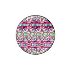 Colorful Seamless Background With Floral Elements Hat Clip Ball Marker by Simbadda