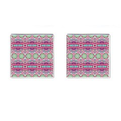 Colorful Seamless Background With Floral Elements Cufflinks (square) by Simbadda