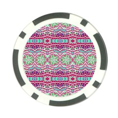 Colorful Seamless Background With Floral Elements Poker Chip Card Guard (10 Pack) by Simbadda