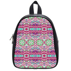 Colorful Seamless Background With Floral Elements School Bags (small)  by Simbadda