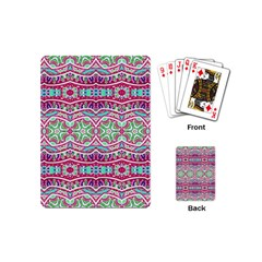 Colorful Seamless Background With Floral Elements Playing Cards (mini)  by Simbadda