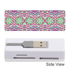 Colorful Seamless Background With Floral Elements Memory Card Reader (stick)  by Simbadda