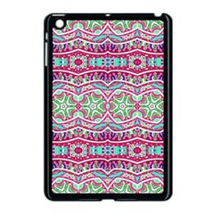 Colorful Seamless Background With Floral Elements Apple Ipad Mini Case (black) by Simbadda