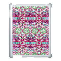 Colorful Seamless Background With Floral Elements Apple Ipad 3/4 Case (white) by Simbadda